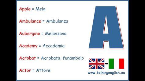 lettere d in inglese 6 parole inglesi da sapere per 26 lettere dell alfabeto