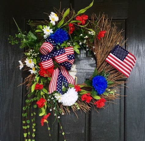 patriotic decorating ideas wreath usa 4th of july day and other patriotic door decorations family net guide to