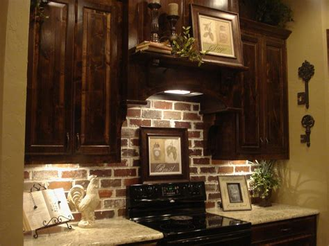 dark kitchen cabinets with backsplash brick backsplash dark cabinets yes future kitchen the