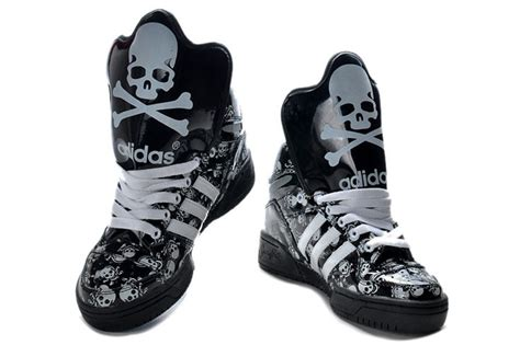 skull shoes high tops adidas shoes skull and crossbones glow in the