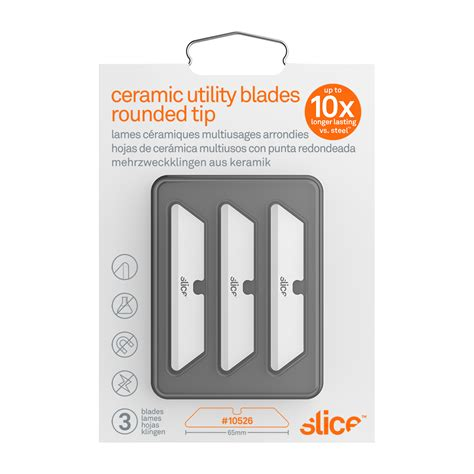 ceramic utility knife blade ceramic utility knife blades rounded tip slice
