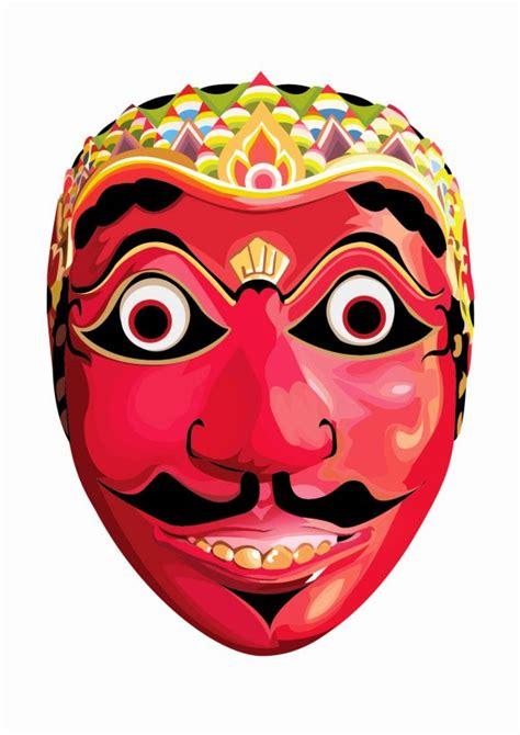 kumpulan gambar topeng tradisional gambar topeng seni budaya indonesia animasi bergerak lucu
