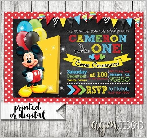 mickey mouse invitation templates 29 free psd vector