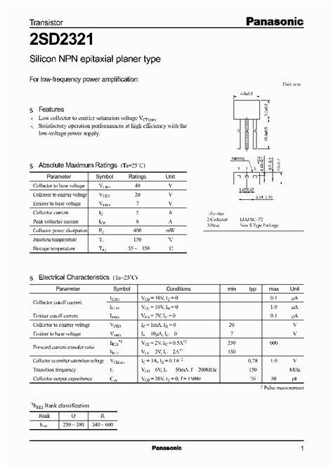 transistor bjt pdf 2sd2321 966525 pdf datasheet ic on line