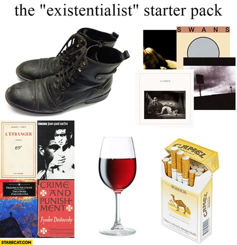 Starterkit Pack the existentialist starter pack starecat