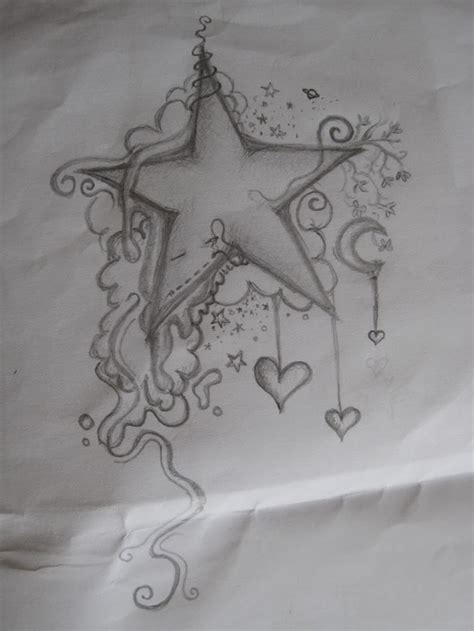 heart and star tattoo and tattoos