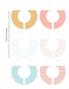 Free Kids Closet Hanger Dividers Printables On Lilluna Com Such A Great Way To Organize Closet Divider Label Template