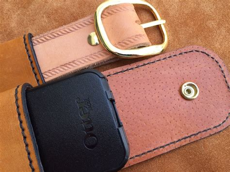 Handmade Leather Cell Phone Cases - cell phone leather drop belt loop fits iphone