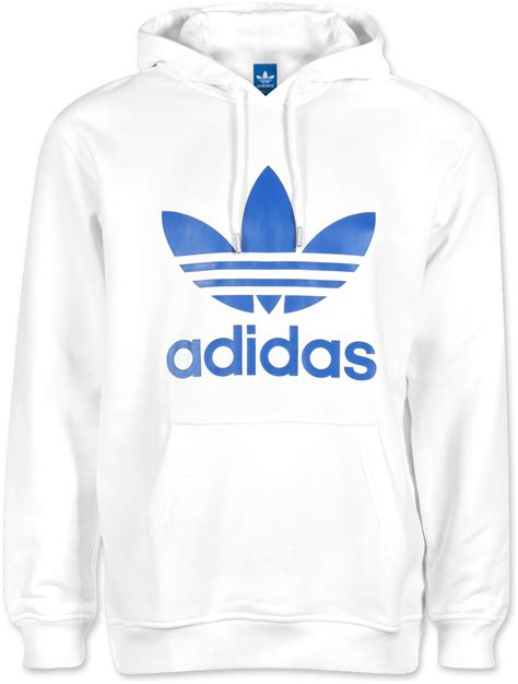 adidas hoodie adidas trefoil hoodie white blue