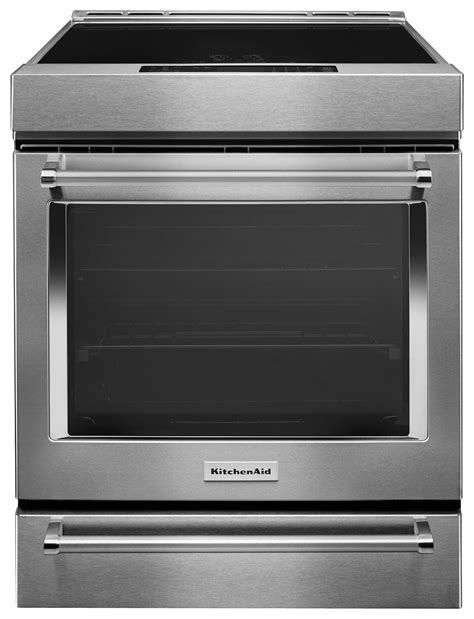 kitchenaid induction range kitchenaid 7 1 cu ft self cleaning slide in electric induction convection range stainless