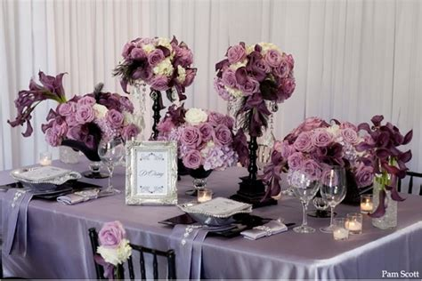Table Floral Arrangements by Most Popular Fall Wedding Colors Of 2014