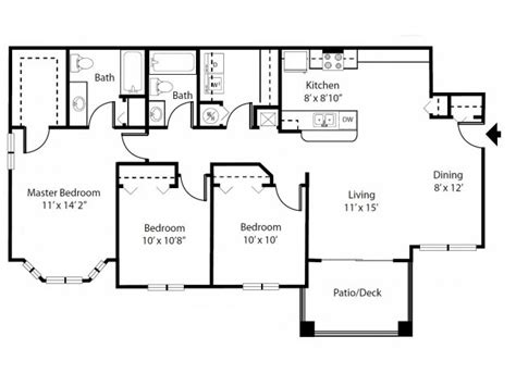 bay window floor plan 3 bed 2 bath apartment in kissimmee fl apartment
