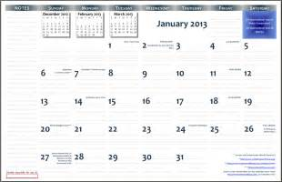 11x17 Calendar Template Word by 11 X 17 Printable Calendar Calendar Template 2016
