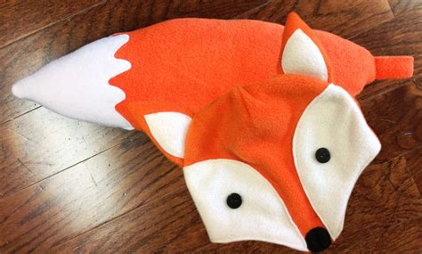 cloth sewing checks a magic pat trick pattern scissors how to s day diy halloween costume fleece fox hat