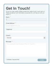 Template Contact Form by Build A Neat Html5 Powered Contact Form