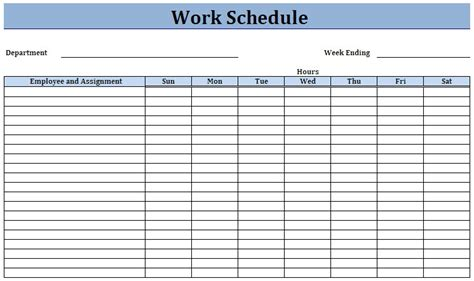 work schedule template weekly work schedule template peerpex