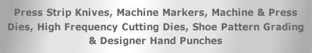 pattern grading bureau leicester press knives and cutting dies available from mas press