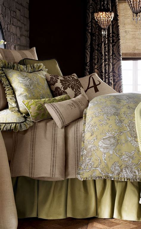 french toile bedroom sage green toile bedding it s a toile world after all