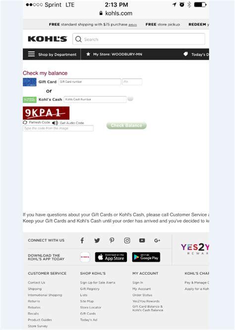 Kohl S Gift Card Check Balance - kohl s gift card balance