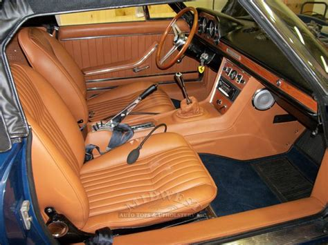 midwest auto tops upholstery  fiat dino spider