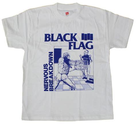 black flag nervous breakdown on a white shirt