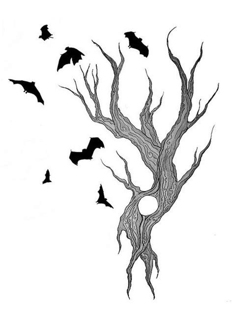vire bat tattoo designs tree and bats design by doodle zook via flickr