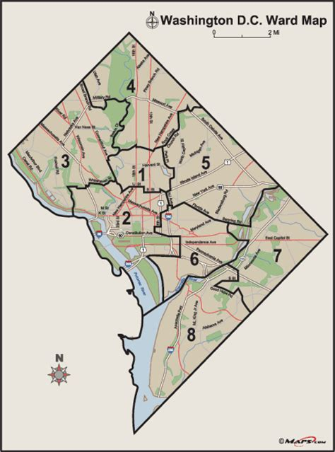 washington dc map of wards washington dc wards
