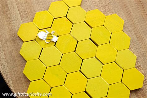 How To Make A Paper Beehive - make a beehive model from pattern blocks gift of curiosity