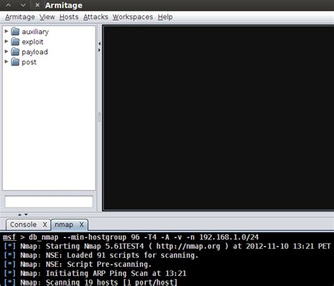nmap attack tutorial armitage metasploit tutoriales hacking