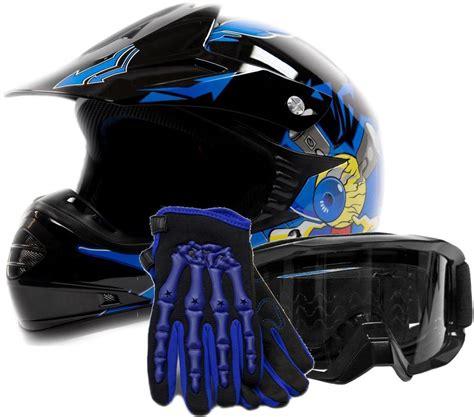 motocross helmets for kids kids motocross youth atv helmet gloves and goggles