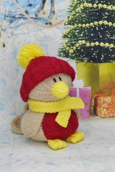 knitting pattern christmas robin robin knitting pattern knitting by post
