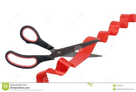 cortar imagenes cortar la cinta roja imagen de archivo imagen de blanco