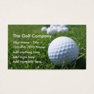 golf business card templates free golf business cards templates zazzle