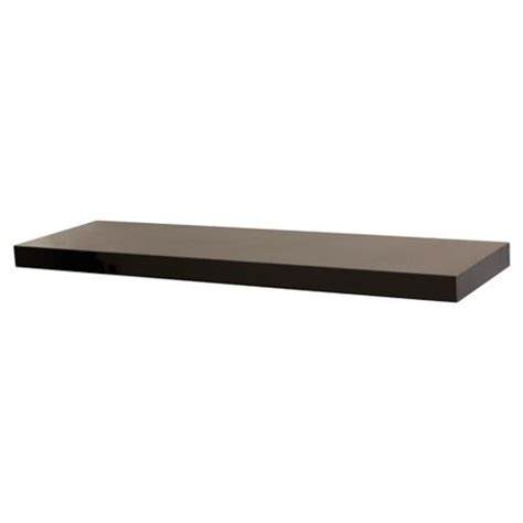 buy high gloss black floating shelf 80cm from our wall