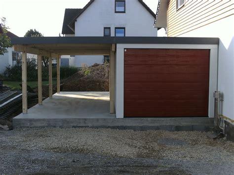 Fertiggarage Carport Kombination by Fertiggarage Garagen Carport Kombination 2