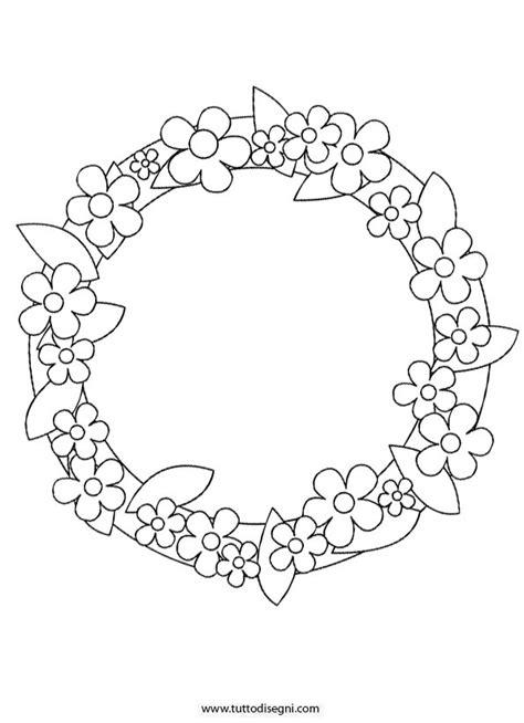 disegni di fiori da stare e colorare ghirlanda con fiori da colorare tuttodisegni