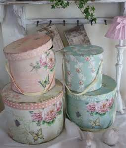 shabby chic hat boxes craft ideas pinterest