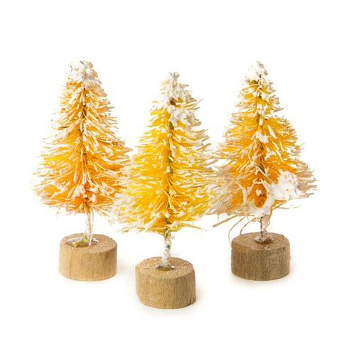 miniature bottle brush trees miniature frosted butterscotch bottle brush trees