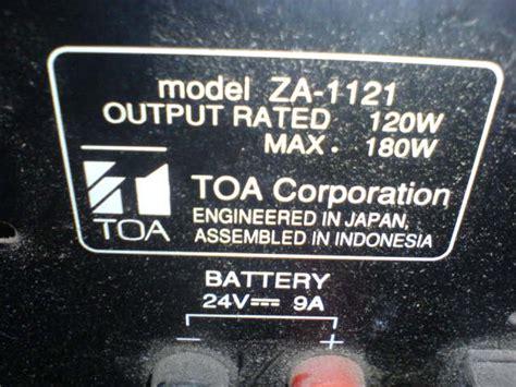 Lifier Mixing Toa Za 1025 lifier toa za 1025 suara kresek kresek tips and trik servis elektronik