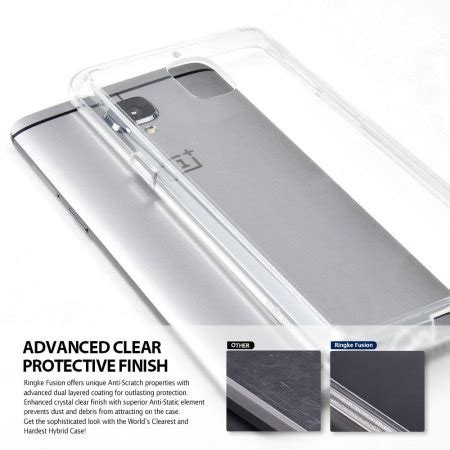 Hardcase Back Cover Rearth Ringke Fusion Oneplus One Casing One Plus 1 rearth ringke fusion oneplus 3t 3 view