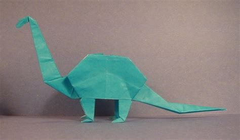 Origami Brontosaurus - brontosaurus animal origami for the enthusiast the