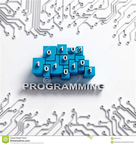 an integrated circuit that can be programmed to perform a wide variety of tasks is called a programming illustration with circuits stock illustration image 62011017
