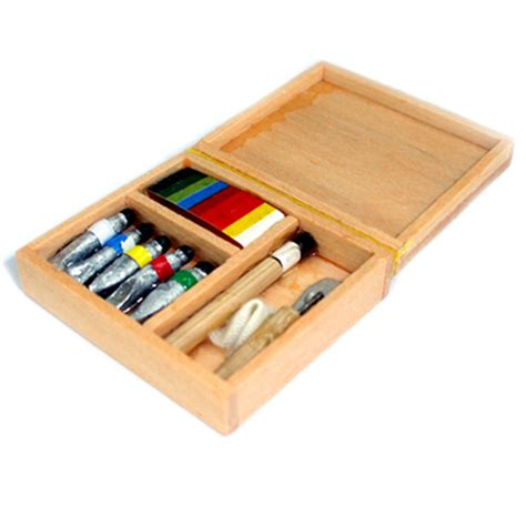 doll house paint dollhouse workshop paints paint box wooden miniature dollhouse art box 1 12 ebay