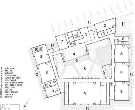 kindergarten school floor plan kindergarten by hibino sekkei architecture for kids pinterest nurseries kindergarten and