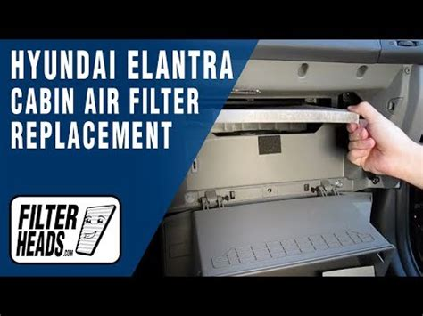 cabin air filter replacement hyundai elantra how to