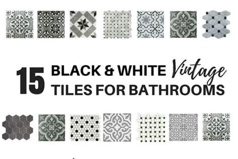 Vintage Black And White Tile Bathroom by 15 Stunning Vintage Black And White Tiles For Bathrooms