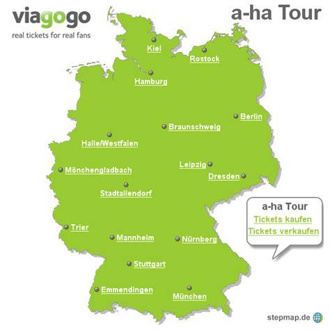 a ha tour viagogo landkarte f 252 r deutschland - Hängematte Südamerika