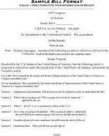 congressional bill template sle bill format for free tidyform