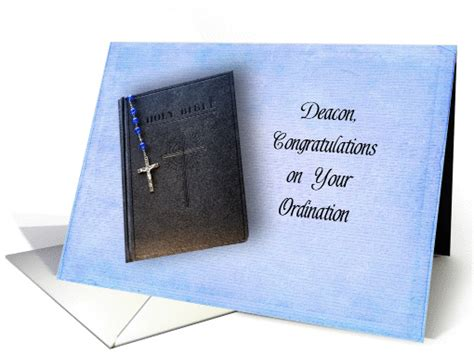 Wedding Anniversary Quote To The Elders by Deacon Ordination Congratulations Greeting Card Black