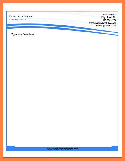 6 Microsoft Word Letterhead Templates Company Letterhead Company Letterhead Template Word 2